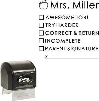 Black Ink Personalised Signature Stamp