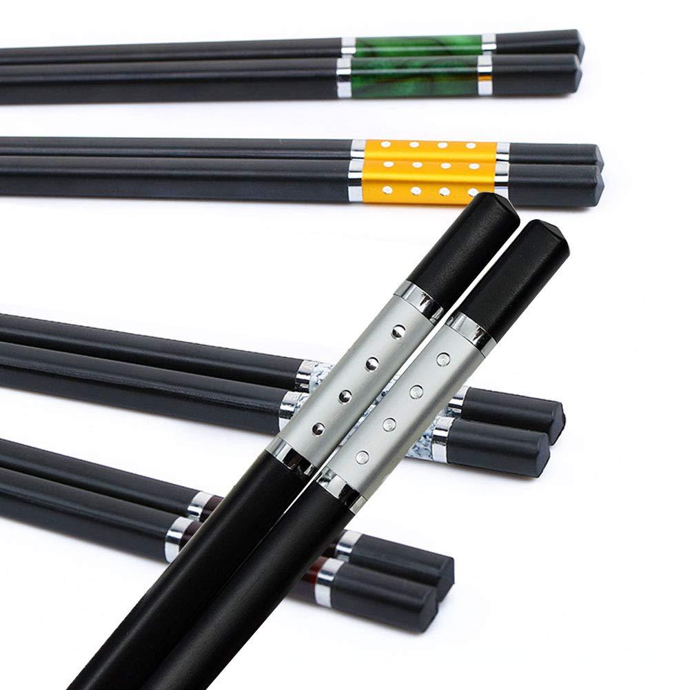 5 pares de palillos chinos de estilo chino de alta calidad ...