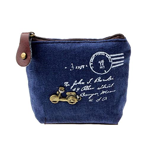 ZARU Tarjeta de la cartera chica retro del bolso de la moneda del monedero del bolso