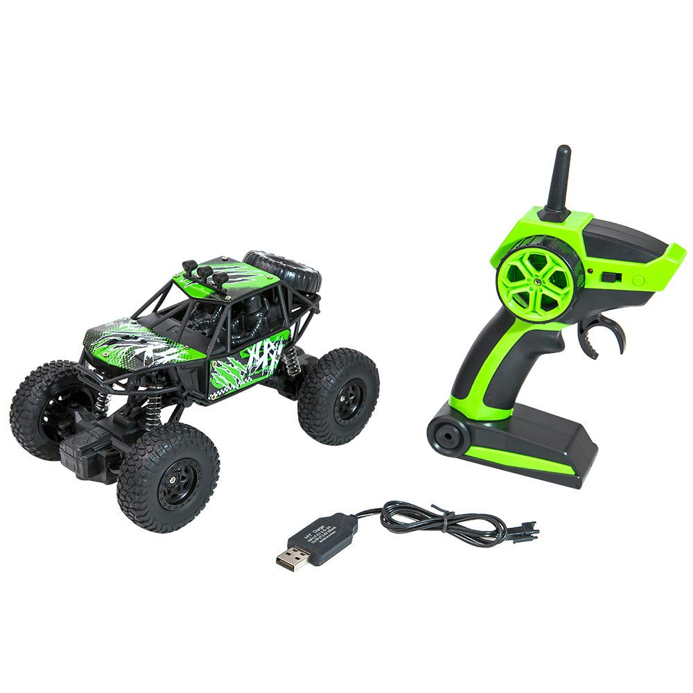2.4G 1:22 RC Truck Car, Sttech1 High Speed Full-Scale Double-Wheel Drive Pickup Racing Car Best Gift for Kids Adults (Green)