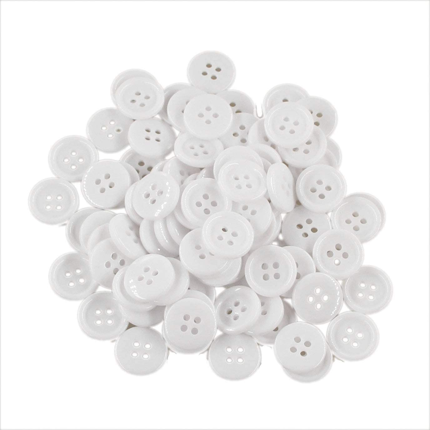 13//16 Flatback Resin Buttons Sewing Buttons 20mm DIY Crafts Childrens Manual Button Colored Black Pack of 100 Pcs Leekayer