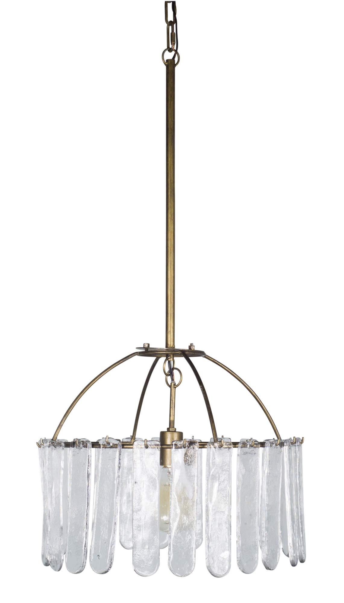 Melrose International Hanging Lamp 17'' x 34''H Iron/Glass (Max 40W)