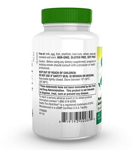 Amazon.com: Alpha Lipoico 100 mg 60 °Cápsulas blandas (sin ...
