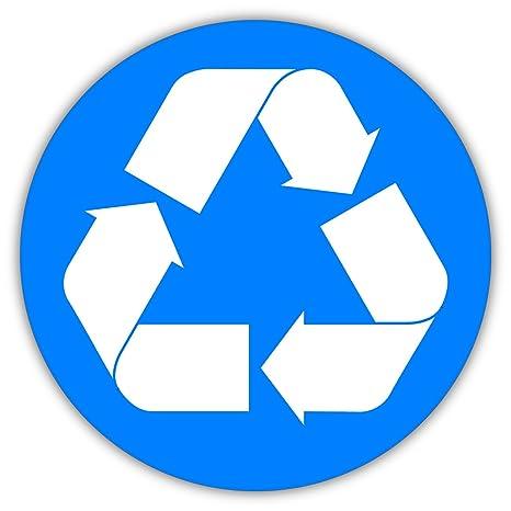 Amazon.com: Reciclaje papelera de reciclaje símbolo luz azul ...