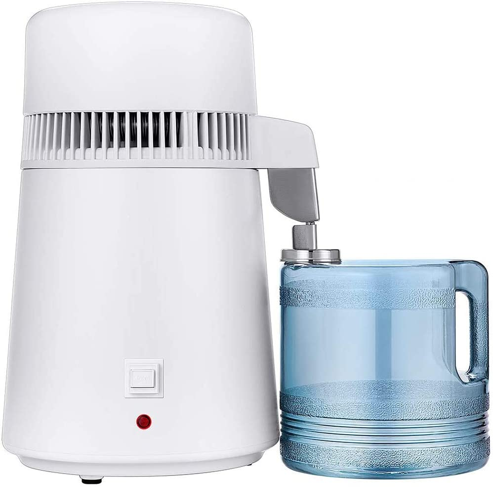 Water Distiller,Distilling Pure Water Machine for Home Countertop Table Desktop, Water Distillers,4L Distilled Water Making Machine, 4 Liter Water Purifier to Make Clean Water for Home 110V 750W