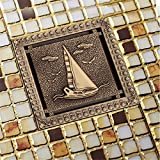 LINA bathroom accessories Super large 4-inch antique copper floor drain deodorant all copper floor drain core toilet drainage (1313cm), C