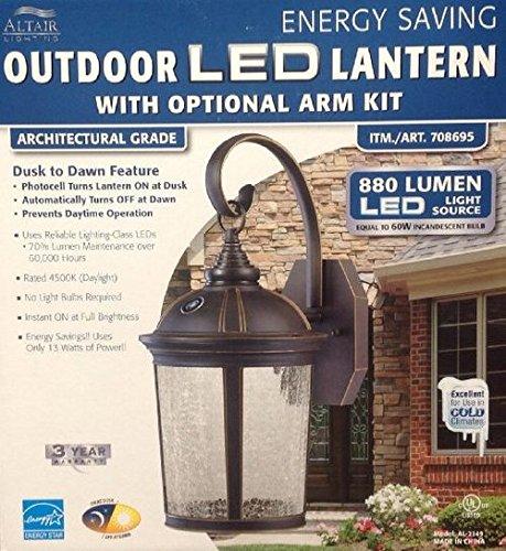 Altair Lantern Lighting Led Outdoor Lantern With Optional Arm Kit