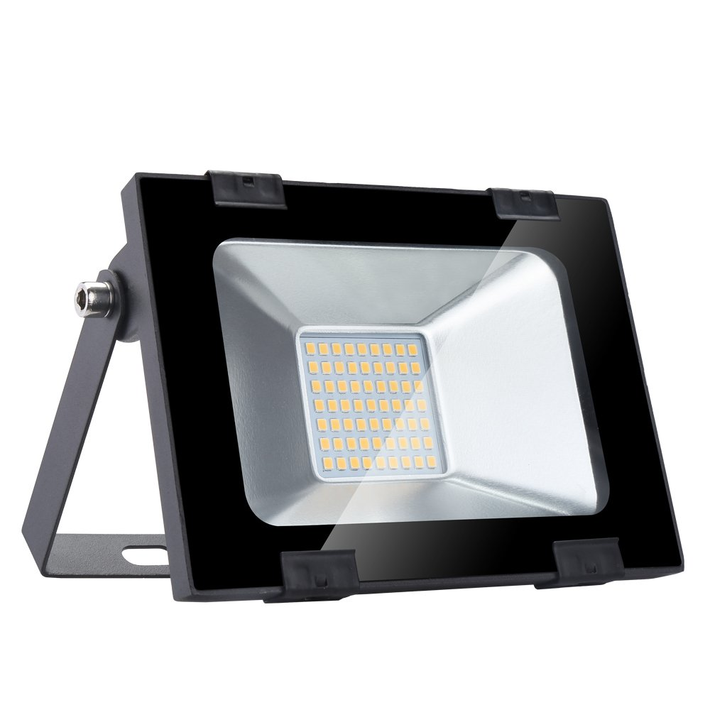 (New Version)Ultra-thin LED Floodlight, 300W 30000LM Outdoor Spotlight, Industrial Light, Super Bright Wall Light Floodlight for Garden, Courtyard, Terrace, Square, Factory, Waterproof IP65, AC 220 - 240V[Energy Efficiency Class A +] (Cold White, 300W) Sh