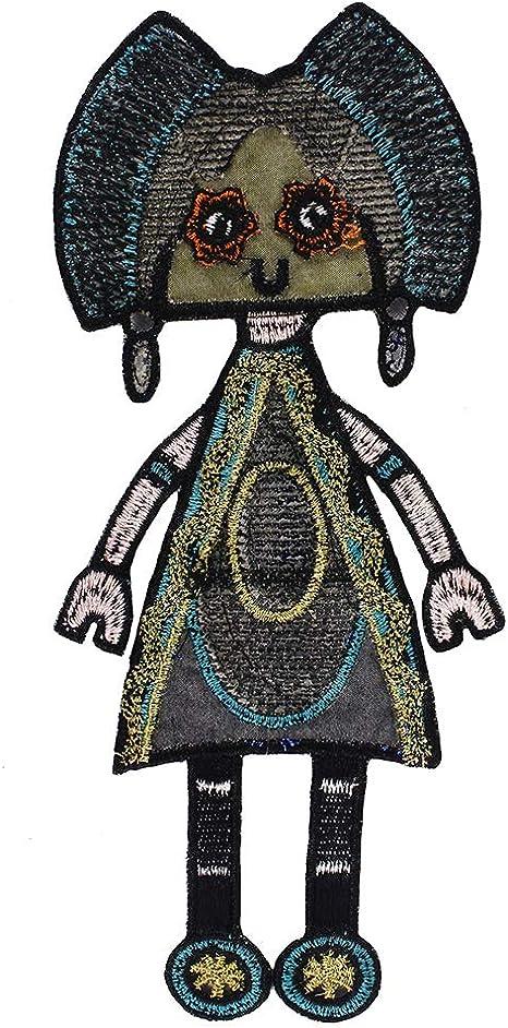 EMDOMO - Parches Bordados con Lentejuelas para Ropa de niña, diseño de Robots de Dibujos Animados: Amazon.es: Hogar