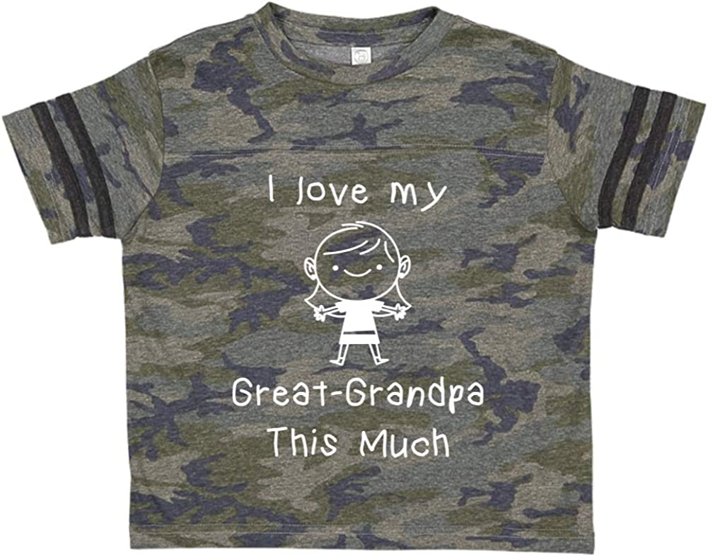 Toddler//Kids Sporty T-Shirt I Love My Great-Grandpa This Much Little Girl