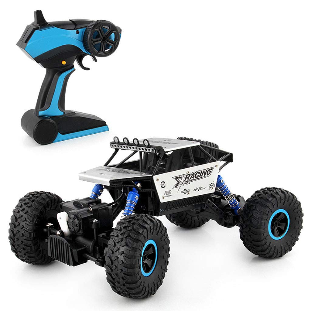 RC Off-Road Car 1:18 Scale All Terrain RC Car 30KM/H High Speed, 4WD Electric Vehicle,2.4 GHz Radio Controller Climbing Off-Road Truck for Adults and Children (♥ Silver)