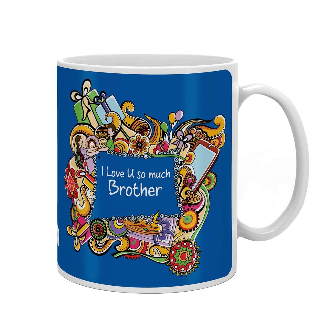 Indi ts Love You Bro Quote Printed Gift Set Mug 330 Ml