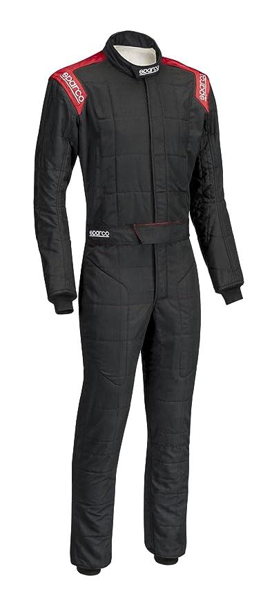 Amazon.com: Sparco Mens Suit (Conquest) (Black/Red, X-Large ...