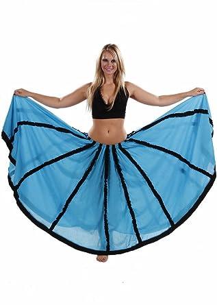 Miss Belly Dance Falda de chifón circular de danza del vientre con ...