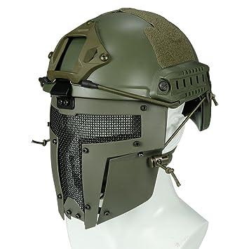 haoYK Casco de Deporte Multiusos Protector táctico Casco Airsoft Paintball MH Tipo rápido Casco Gafas CS