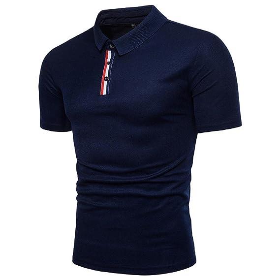 OHQ Camisa para Hombre Verano Polo Informal De Europa Y Estados Unidos Personalidad De Moda Casual Manga Corta Camiseta Tops Blusa Casual Chaleco ...