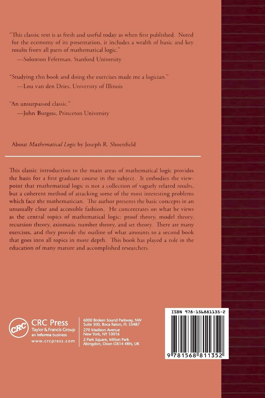 Mathematical Logic: Amazon.co.uk: Joseph R. Shoenfield ...