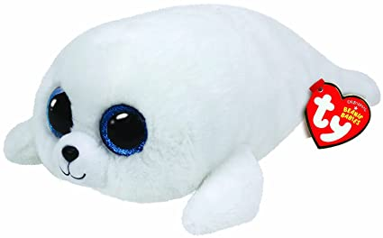 88dc0703a06 Amazon.com  Ty ICY - White Seal med  Toys   Games