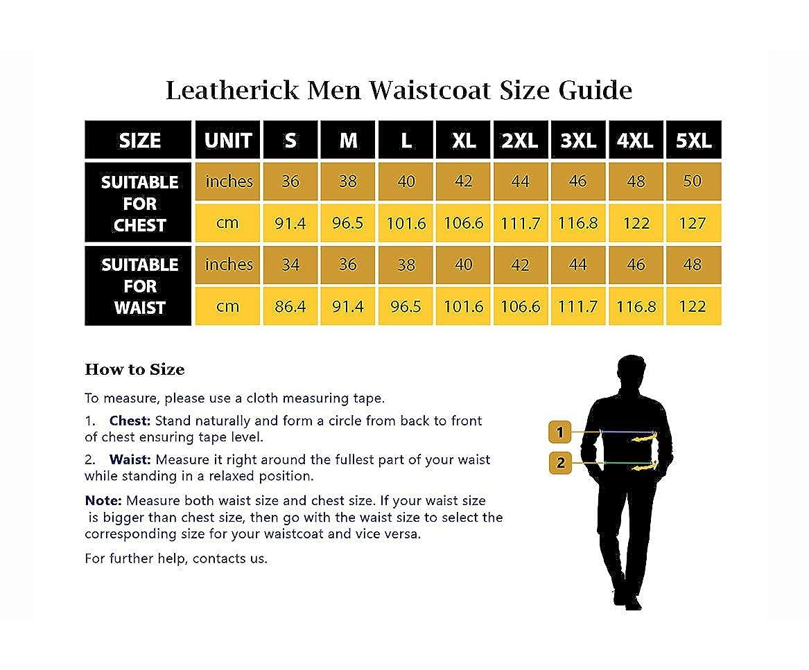 Men Sons of Anarchy Collarless Distressed Brown Vintage Biker Leather Waistcoat Vest Genuine Cowhide Leather