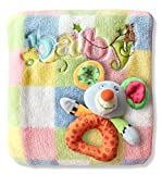 Baby Blanket & Rattle Gift Set For Boys Or Girls! Best Quality Soft Fleece 30x40