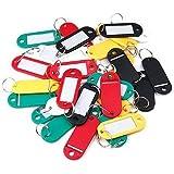 Sonline 30 ¡Á etiquettes colorees de porte-cles/en plastique/avec la carte de nom, ideal pour les utilisations nombreuses: trousseaux de cles, etiquettes de bagages, carte de memoire, etiquettes de nom de vos animaux, etc ¡
