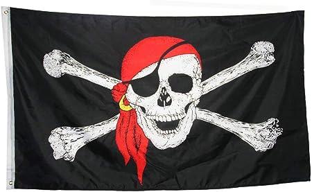 PIRATE FLAG LARGE 3X5/' FOOT FT JOLLY ROGER BANNER SKULL CROSSBONES HOUSE SHIP