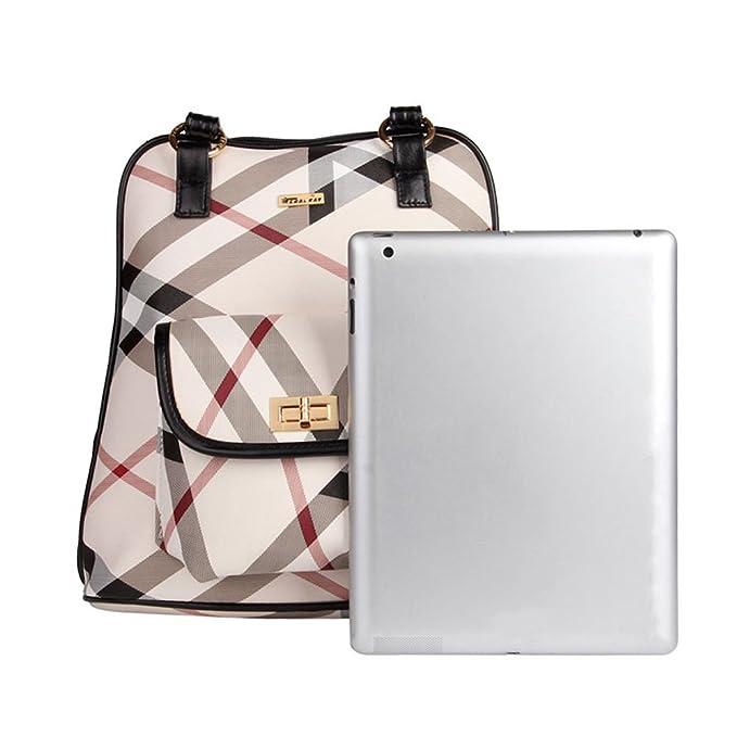 Amazon.com | Fashion Women Backpack Leather plaid Backpacks for Teenage Girls Female School Shoulder Bag Bagpack mochila 6029 (black) | Backpacks
