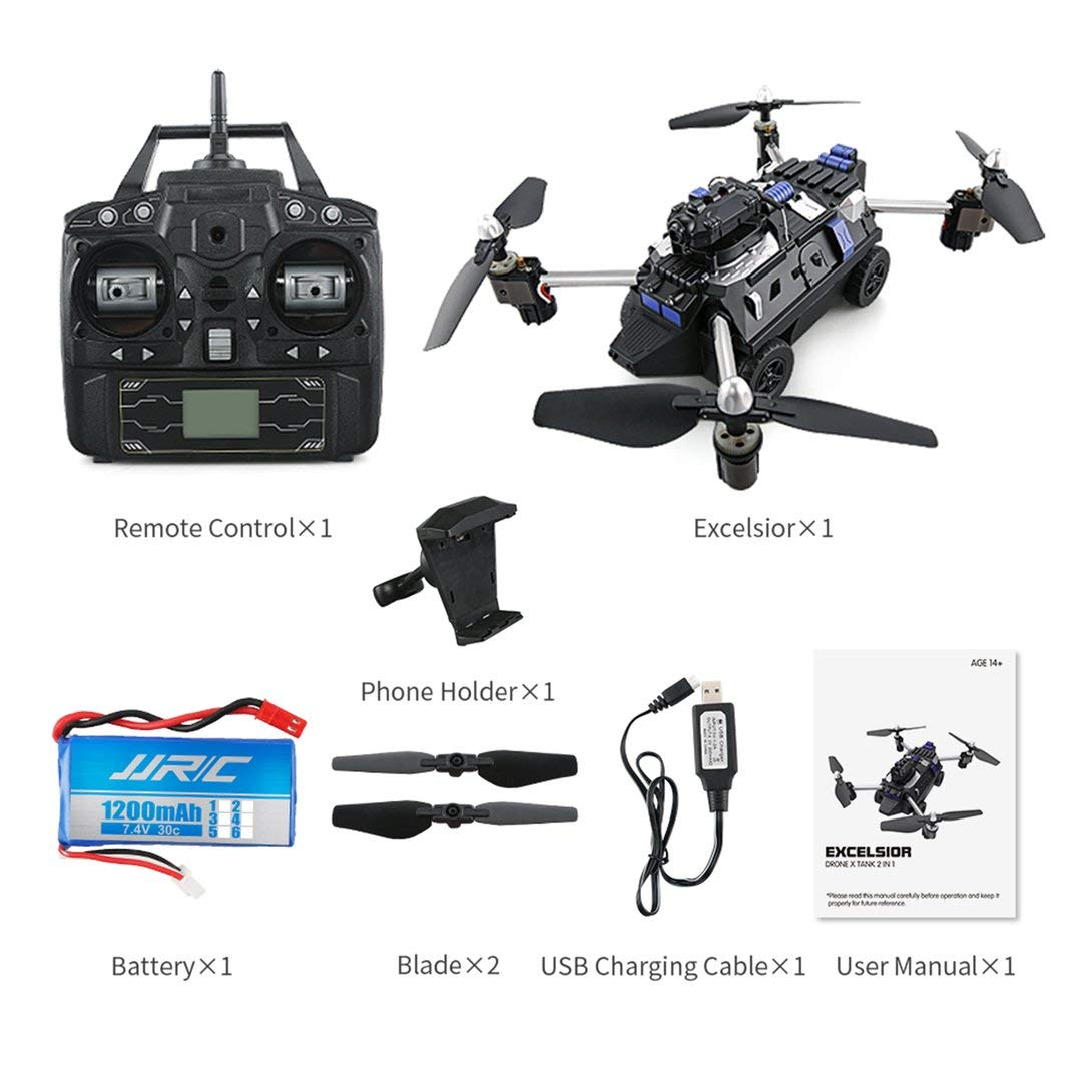 Swiftswan JJR / C H40WH Selfie FPV RC 2,4G RC Quadcopter Tank Auto Drohne Flugzeug mit 720 P WiFi HD Kamera Höhe Halten 360 ° Flips