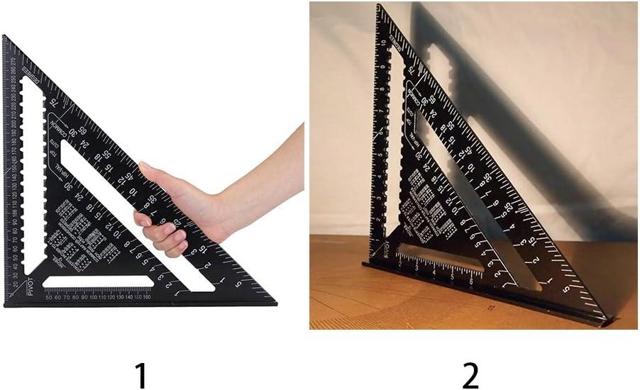 Aluminium-Dachdeckung Zimmermannsmessger/ät f/ür Ingenieure hohe Pr/äzision LYCOS3 Dreiecks-Lineal Geschwindigkeit quadratischer Winkelmesser 30,5 cm Schreiner quadratische Skala Aluminiumlegierung