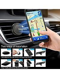 Adaptador de radio inalámbrico Sumind, transmisor Bluetooth Fm para automóvil, transmisor Bluetooth para automóvil Pantalla de 1,7 pulgadas, puertos USB QC3.0   2.4A dobles, salida AUX, reproductor de MP3 con soporte magnético y placa