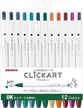Water-Based Color Pen WYSS22-12CDK Zebra CLiCKART Dark 12 color