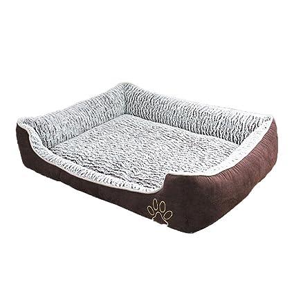 Hukangyu1231 Cama de Perro Mascota Casa de Perro Lavable para Mascotas Suministros Teddy Large Dog Golden