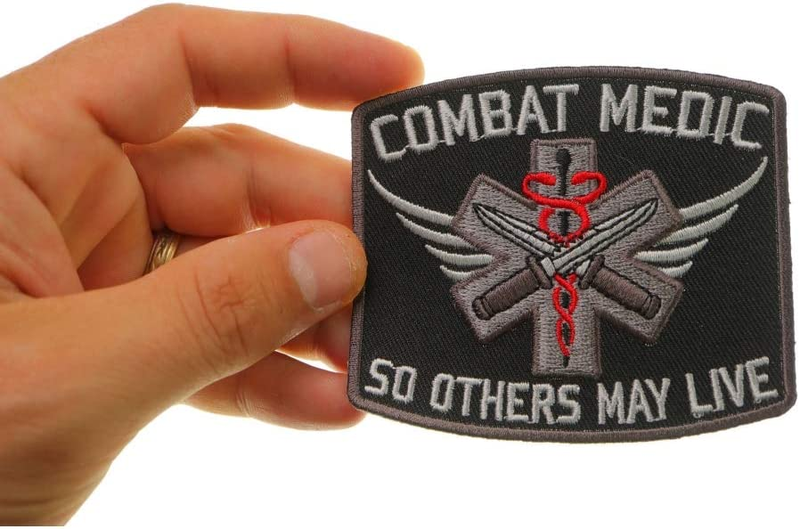 Combat Medic Patch So Others May Live Embroidered Iron on Patch 3.5x3 inch