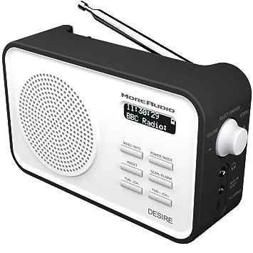 2922ddcf5e56 AZATOM MoreAudio Desire DAB Digital FM Radio Alarm Clock - Portable -  Rechargable battery - Timer