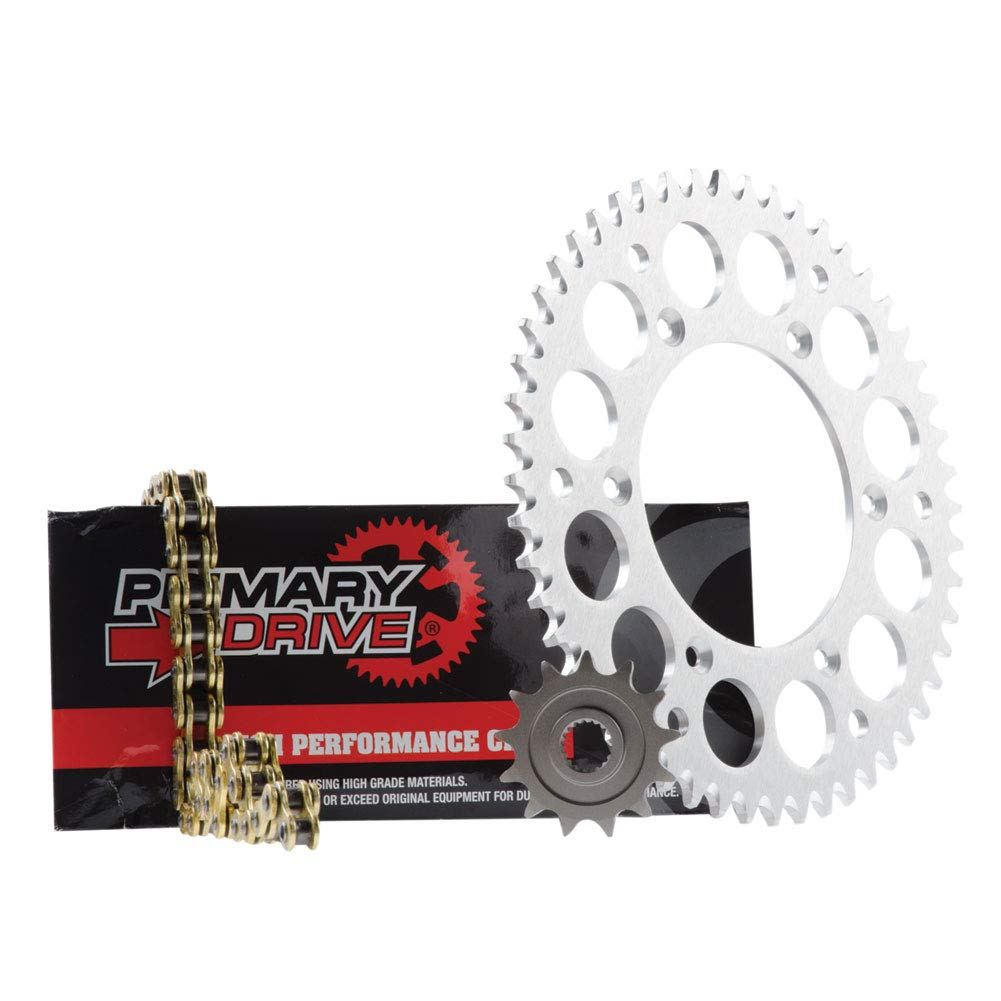 Tusk Primary Drive Alloy Kit /& Gold X-Ring Chain Silver Rear Sprocket Fits Suzuki RMZ250 2013-2015