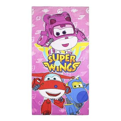 takestop Toalla Toalla superwings Disney niña para niñas Multiusos Playa Cuna coprilettino Piscina Playa 70 x