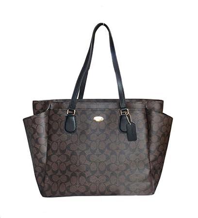 997a082bec Amazon.com   Coach F35414 Large Diaper Tote Travel Bag Coated Canvas ...
