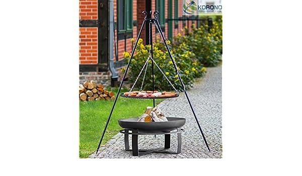 korono 2 en 1 & de barbacoa, Brasero parrilla 50 cm & Brasero con orificio de 60 cm - Barbacoas & CHILLEN: Amazon.es: Jardín