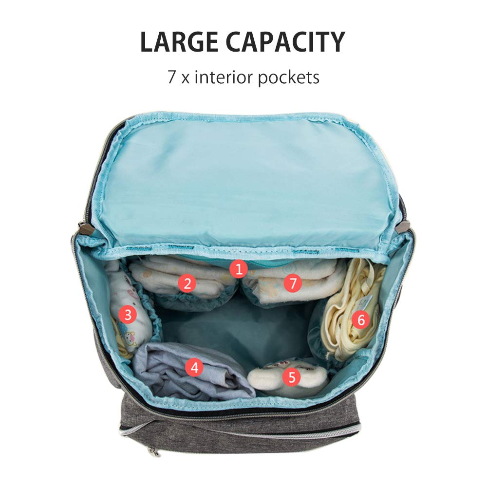 Dad Pannolini Baby pannolino borsa zaino impermeabile di grande capacit/à di isolamento borsa da viaggio Storage Bag Baby Bottle + pad di ricambio + bavaglino ) borsa multifunzione Mother Best gift