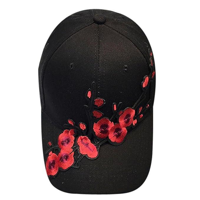 Sombrero de mujer Switchali moda Flor de ciruela gorra de hombre Gorras de béisbol  para adultos 3a4dbb9c35f