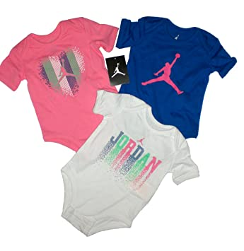 d8bff5a72a8c Image Unavailable. Image not available for. Color  Nike Jordan New Born  Baby Bodysuit 3 PCS ...