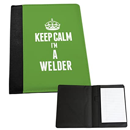 Duke Gifts Verde KEEP CALM I m un soldador bloc de notas MEDIUM 2716