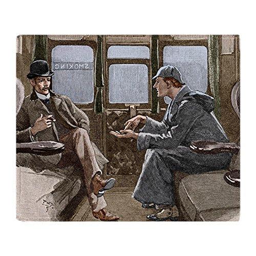 CafePress Sherlock Holmes And Dr. Watson Soft Fleece Throw B