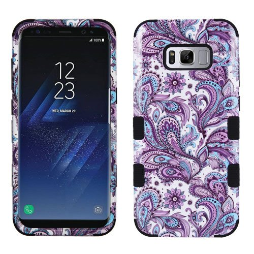 Wydan Case for Samsung Galaxy S8 - Tuff Hybrid Hard Shockproof Case Protective Heavy Duty Phone Cover - Paisley