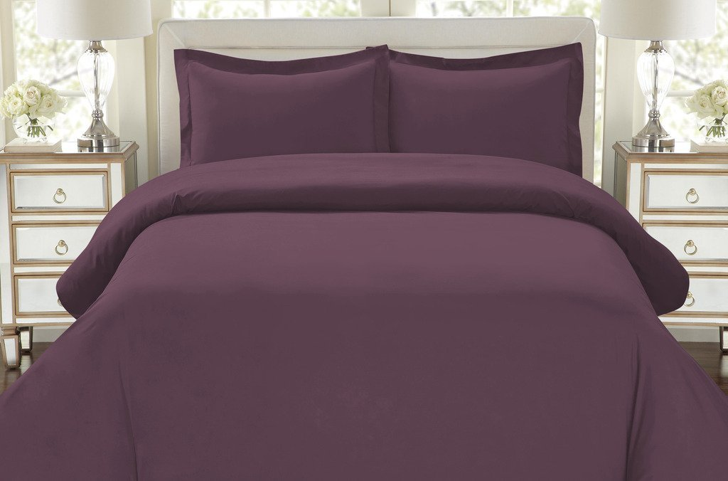 Silky Soft Top Quality Premium Bedding Collection-Queen Size Eggplant
