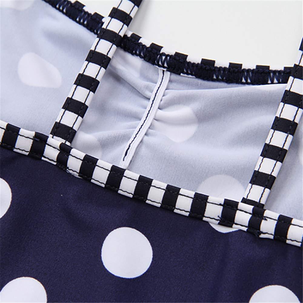 FeliciaJuan Kids Beach Sport Banded One Piece Swimsuit Girls Kids Cute One Piece Swimsuit Front Knot Polka Dot Ruffle Swimwear Children Uv Protection Bathing Suits Size : 10