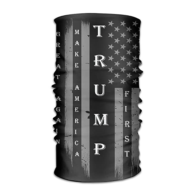 cf194ca28fafb Amazon.com: Trump MAGA Make USA Flag Headwear Bandanas Headscarf ...