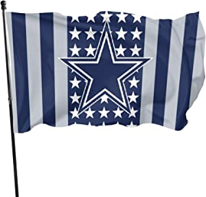 Stockdale Dallas Cowboys Garden Flag Champion Banner Fade Seasonal Garden Flags 3x5 FT for Halloween Christmas