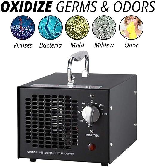 shewt Generador de ozono 3.500mg O3 Purificador de Aire ...