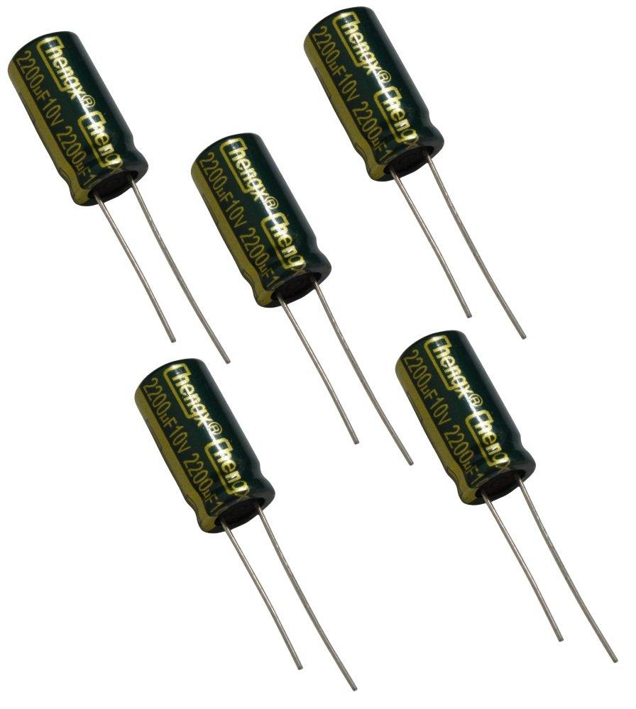 Aerzetix 5 Kondensatoren chemische LOW ESR 10V 2200/µF L/ötbrenner niedriger Impedanz